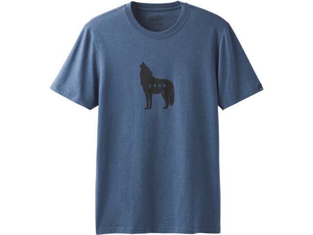 Prana Wolf Pack Journeyman Camiseta Manga Corta Hombre, denim heather